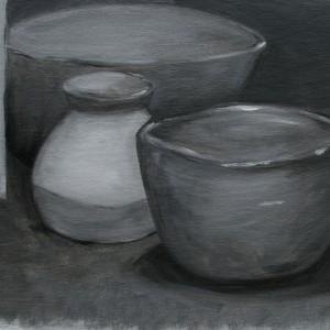 Bowls in Grey